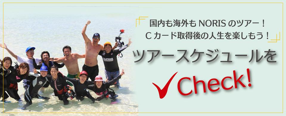 国内も海外もNORISのツアー!Cカード取得後の人生を楽しもう! ツアースケジュールをチェック!